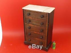 Superb Small Furniture Doll, Master Wood. Weekly, Chiffonnier. Nineteenth