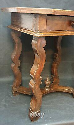 Table Epoque Cabaret Louis XIV 17th In Noyer