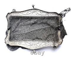 Three Great Ancienne Argent Massif Double Compartments 19th