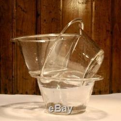 Three Large Jam Jars Blown Glass Eighteenth Nineteenth Antique Glass (8)