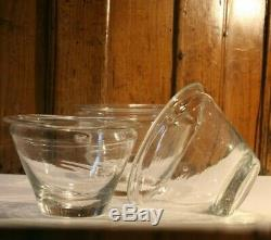 Three Pots With Glass Blown Jam Late Eighteenth Early Nineteenth Antique Glass