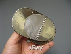 Tobacco Box. Navy Off Cap. Folk Art. Hairy Object