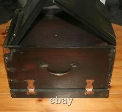 Toilet Box Or Chinese Wooden Travel With Courtesy Mirror