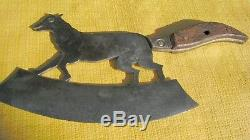Tool Old Cutter Chopper Zoomorph Old Butcher Knife Fox Ax Tool