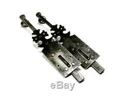 Tool Old Great Pair Of Door Latches Ironwork Twentieth