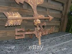 Vane Old Iron Church Rooster Subject Of Ancient Folk Art Of The 19th