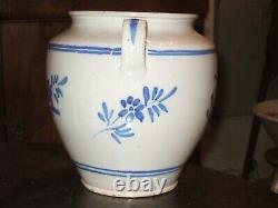 Very Beautiful And Rare Grease Pot Flower Decoration, Martres Tolosane End 19th
