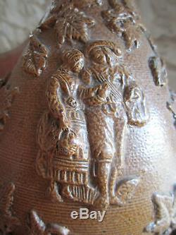 Very Beautiful Pichet In Gres Beauvaisis Ancient Xixth Theme Wine J Ziegler Greber