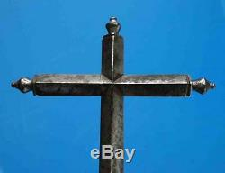 Very Popular Ancient Processional Cross In Wrought Iron Religion