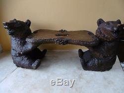 Very Rare Bench Bear Forest Black Eighteenth