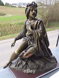 Victor Evrard Bronze Statuette Dated 1846 36 CM 6.7 KG