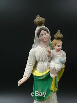 Virgin Mary Statuette Provencale Santibelli Beginnings Xixth Century Popular Art