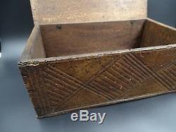 Wooden Lacemaker Box Haute Savoie Decor Sculpte