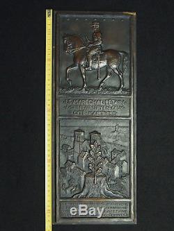 Ww2 Bronze Plate Henri Dropsy Marechal Petain St Valery En Caux 42,5cm