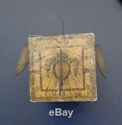 Xviiith Polyhedral Solar Dial / Antique Sundial Sonnenuhr