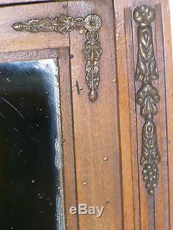 05b90 Ancienne Armoire 1900 Meuble Style Louis XVI Maison De Poupée House Doll