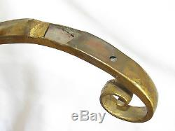 05c73 Ancienne Potence Enseigne Marchand De Vin Champagne Bronze Dore Nologie
