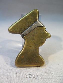 Ancien Briquet De Poilu Buste Homme Kronprinz Guerre 14-18 Tranchee Ww1