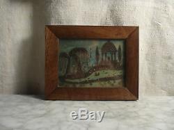 Ancien TABLEAU Reliquaire Souvenir en CHEVEUX Antic Reliquary Memory 19 th