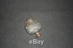Ancien petit flacon en forme de cur en verre soufflé moulé parfum XIX ème