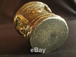 Ancien petit mortier d'apothicaire en bronze XVIII ème ou début XIX ème