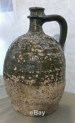 Ancienne cruche à huile de noix poterie Chapelle des pots Charente XVIII ème