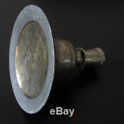 Antique Islamique Brass Chandelier Inde Vase Narguilé / Certificat+Provenance