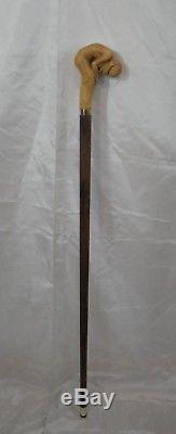 Canne de marche nue femme sculptée artiste Français walking stick Knob cane