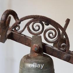 Cloche de portail En Bronze signé Osmond Dubois à Paris fondeur du roi charles X