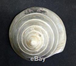 Coquillage gravé en Nacre de bagnard marin Nouvelle-Calédonie fin 19 ème