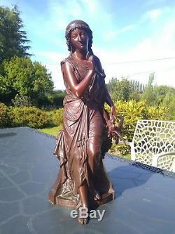 Femme en Bronze Signée François Mage 1846-1910
