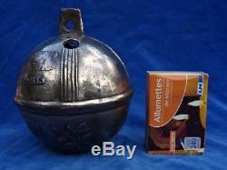 GROS GRELOT Ou CLOCHE / Old big bell ROSES 12,5 cm RARE+++! TOP+++