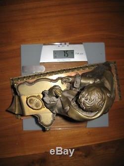 Groupe en Bronze Doré XIXème 37,5 cm