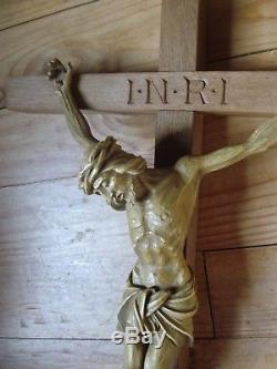Important et rare crucifix du début du XXe siècle 75 cm