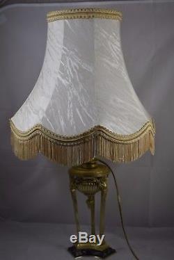 LAMPE ATHENIENNE EN BRONZE DORE, EPOQUE XIXème