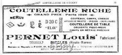 L. ELOI PERNET ciseaux de couture ancien broderie NOGENT Sewing scissors antique