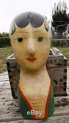 MAROTTE tête modiste ART POPULAIRE