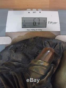 Ménestrel en Bronze signé Victor Evrard daté 1846 36 cm 6,7 Kg