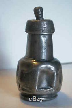 Old Feeding-bottle Ancien Biberon Balustre En Etain Lecouvey Vers 1830