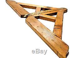 Outil ancien très rare équerre de Salomon pour charpentier XIXème