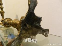 Pair de chandeliers, pique-cierges, bronze, Italie, Bologne, haute époque