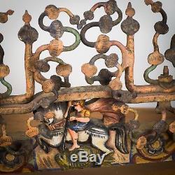 Partie de charrette sicilienne, carretto siciliano, art populaire, old SICILIAN
