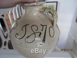 Poterie Ancienne Espagnol Datee 1870 Ano Espana Spanish Ceramic Ceramique Oiseau