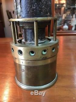 Rare lampe grisoumétrique de mine mineur French Miners Lamp Art Populaire 1890