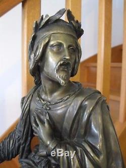Statuette en Bronze signé Victor Evrard daté 1846 36 cm 6,7 Kg