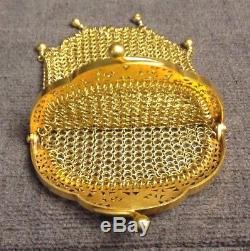 Superbe ancien porte monnaie en or 18 carat, 27,5Gr 4 Poinçons (tête D'aigle)