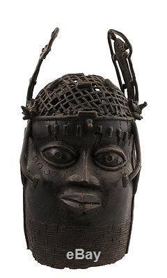 Tete Commemorative Oba-bronze Benin-nigeria-bini Edo-1221