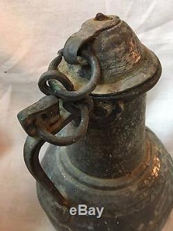 Très beau cocquemar pichet broc en cuivre étamé haute époque XVIIème