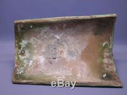 Tuile faitière en terre cuite vernissée XIX e siècles / très rare