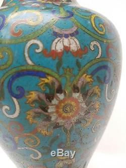 Vase en émaux cloisonnés, Chine 19eme siecle
